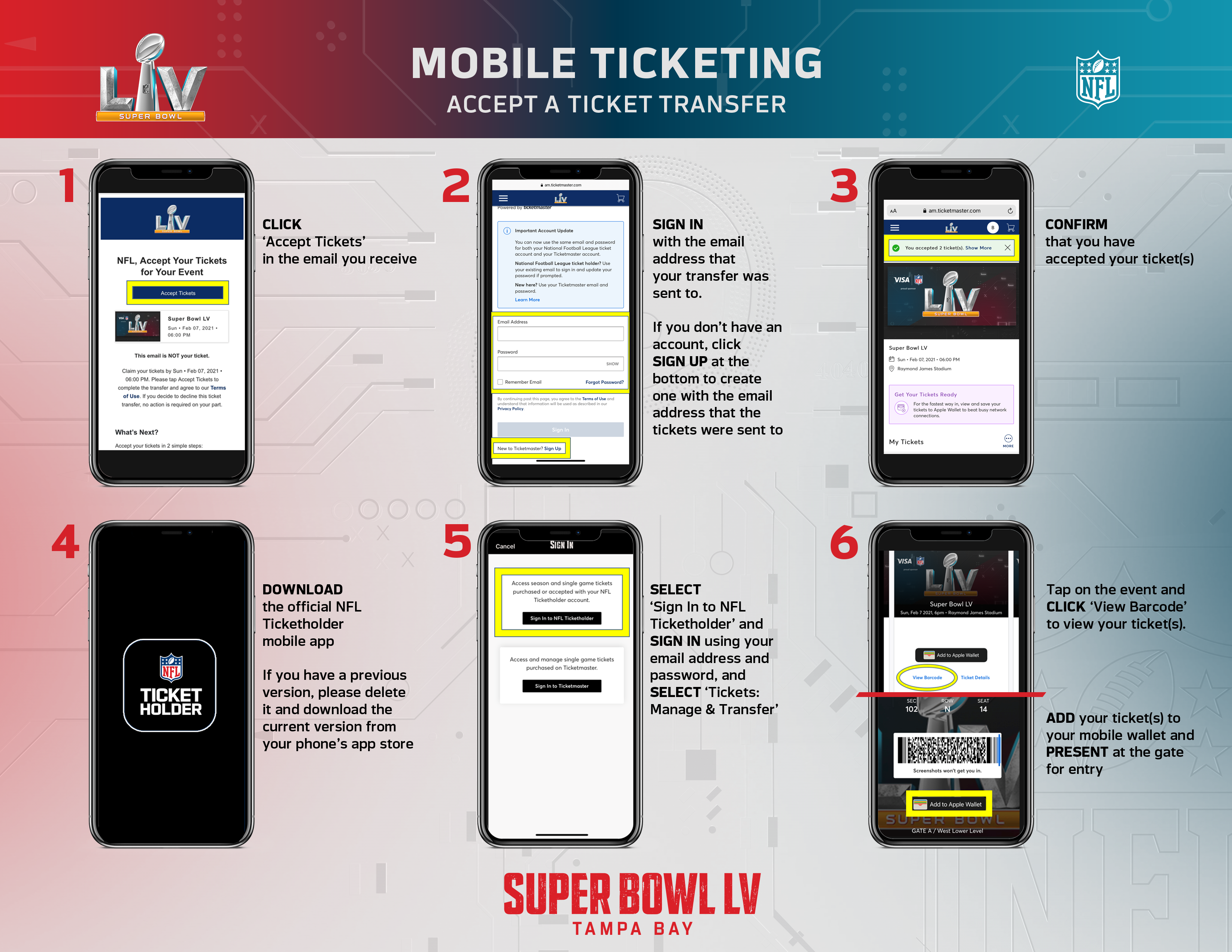 How To Accept Your Tickets