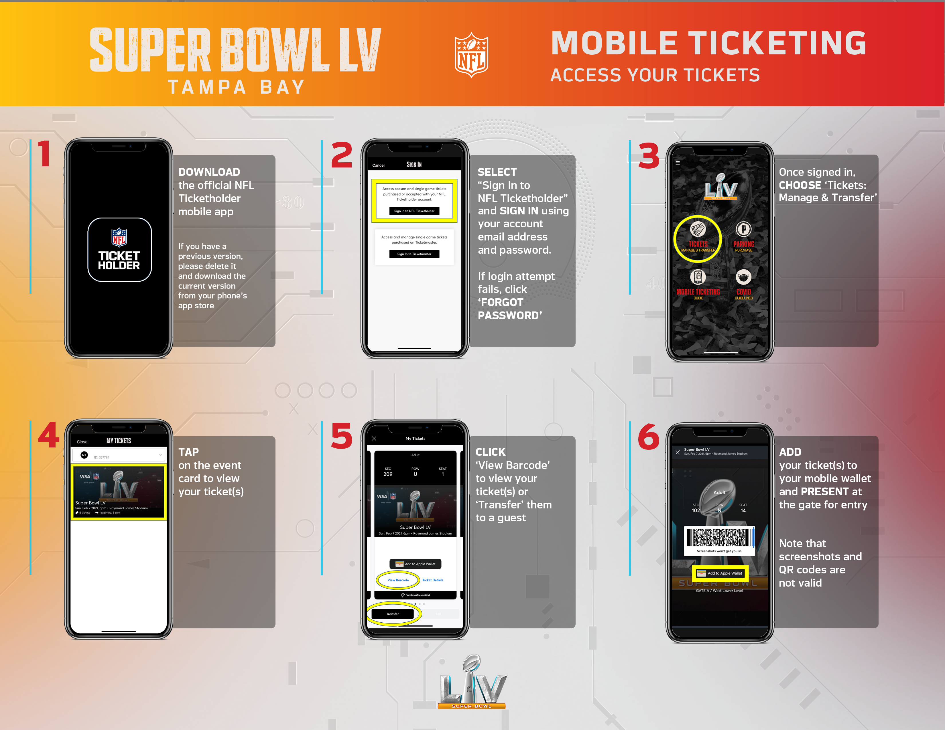 How To Access Your Tickets
