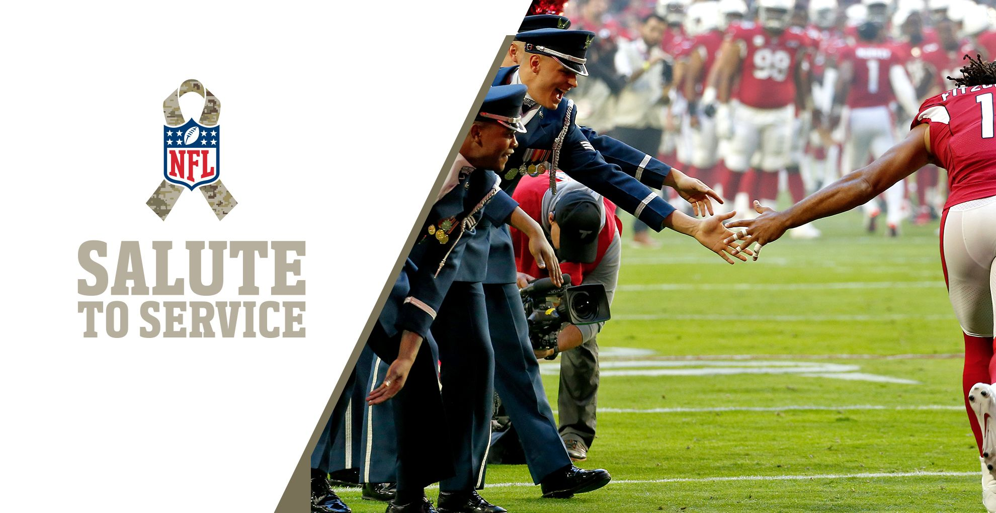 Salute to Service is the League's year-round effort to honor, empower, and connect with active duty service members, veterans, and their families. During November, the NFL will recognize and honor the military community through special moments, both in-person and virtually, at NFL games and events.