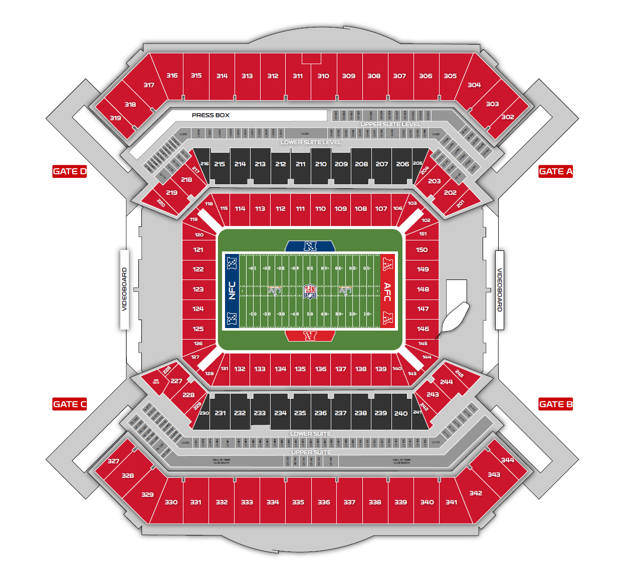 Stadium Seating Map