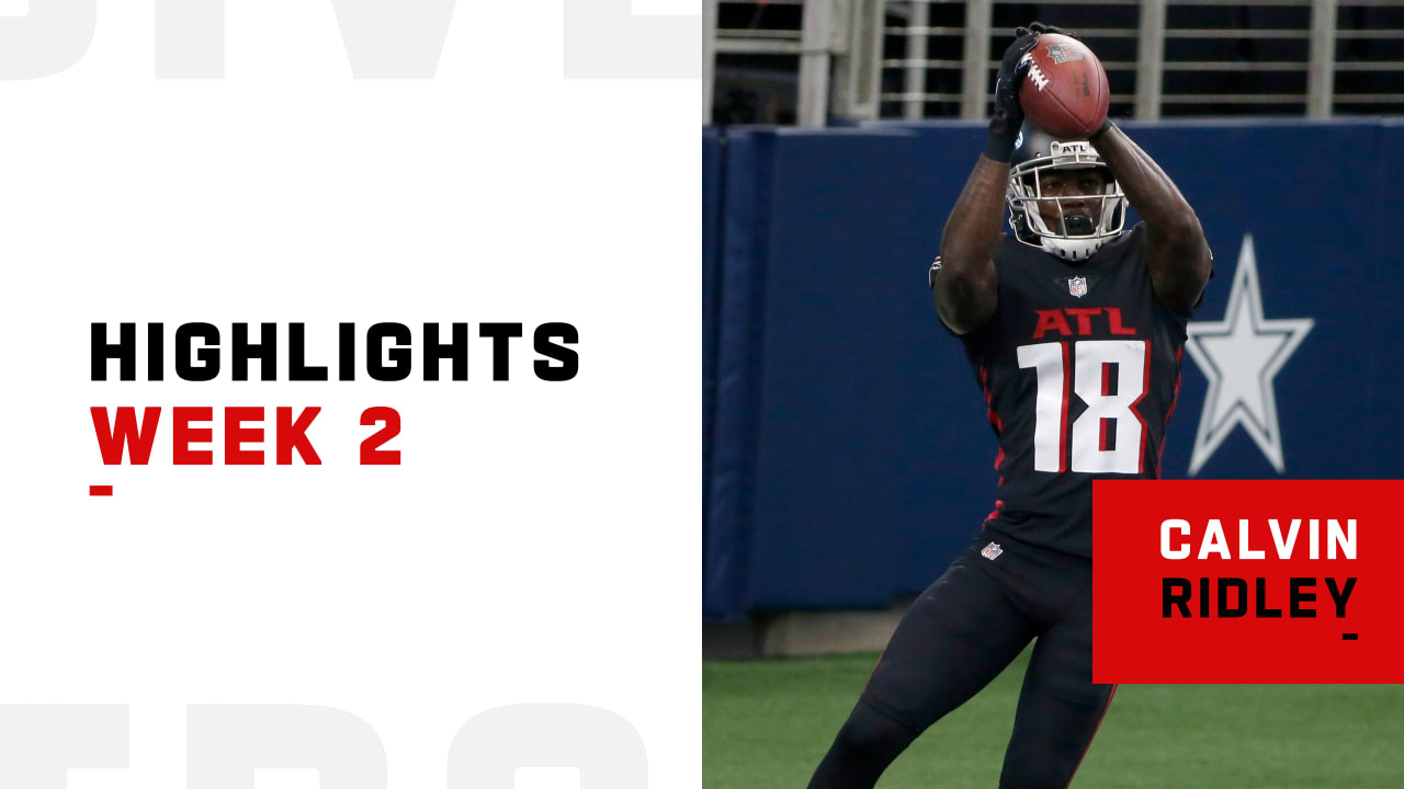 Every Catch From Atlanta Falcons Wide Receiver Calvin Ridley S 2 Td Game Week 2