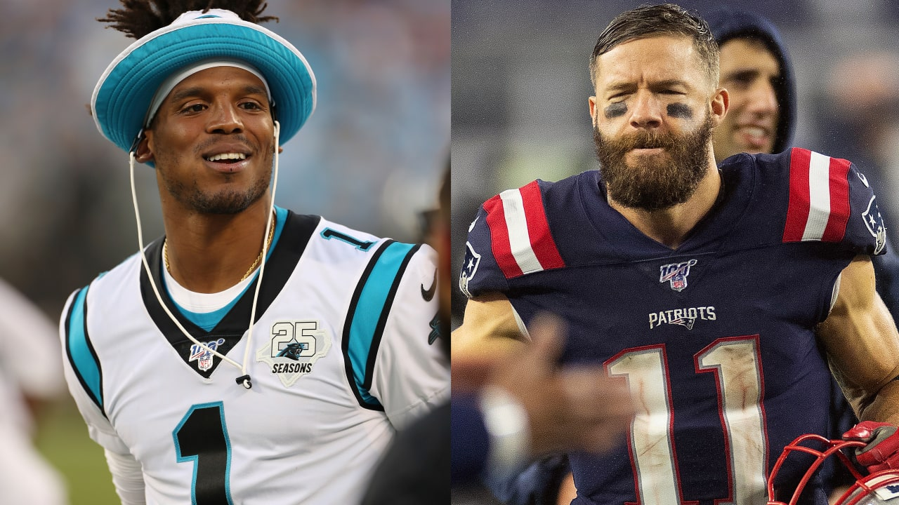 Julian Edelman Welcomes Cam Newton With Nod To Qb S Font