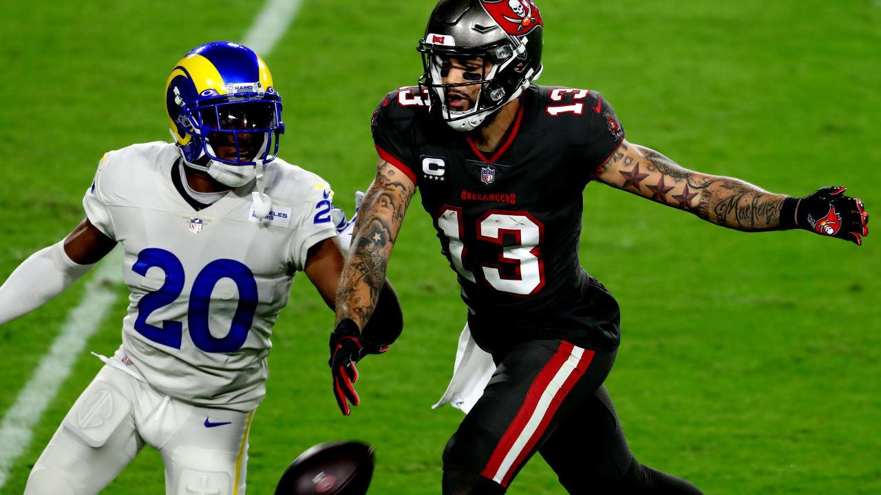 Los Angeles Rams Cornerback Jalen Ramsey Vs Tampa Bay Buccaneers Wide Receiver Mike Evans On Monday Night Football Week 11