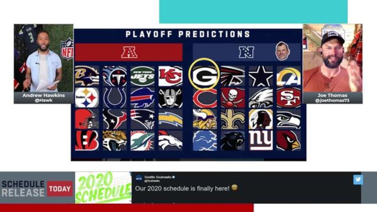Joe Thomas Andrew Hawkins Make Playoff Predictions