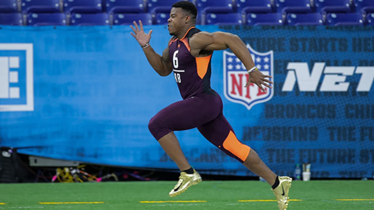 Alabama Running Back Damien Harris Runs An Official 4 57 40 Yard Dash At 2019 Combine
