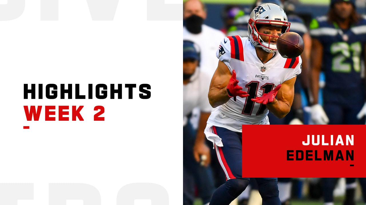 Every Catch From New England Patriots Wide Receiver Julian Edelman 179 Yard Performance Week 2