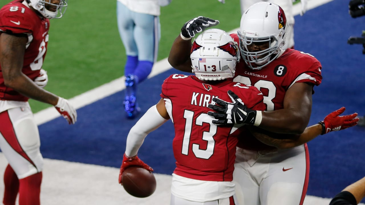 Arizona Cardinals wide receiver Christian Kirk flies outside on the fly  sweep for untouched TD