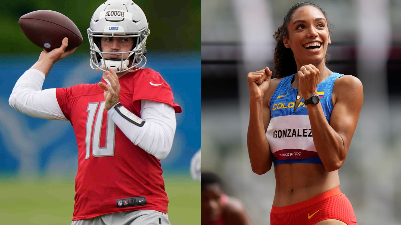 Training Camp Buzz: Lions QB Blough celebrates wife's Olympic run with teammates