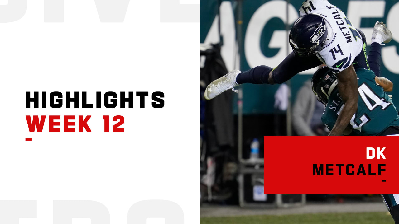Every catch by DK Metcalf vs. Darius Slay on 'MNF' | Week 12 - NFL.com