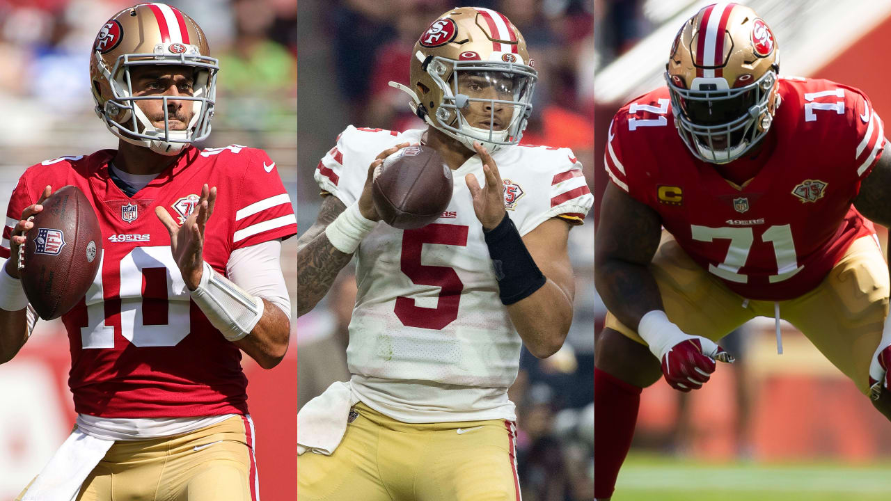 Trent Williams (ankle/elbow) doubtful with Jimmy Garoppolo returning as 49ers starting QB