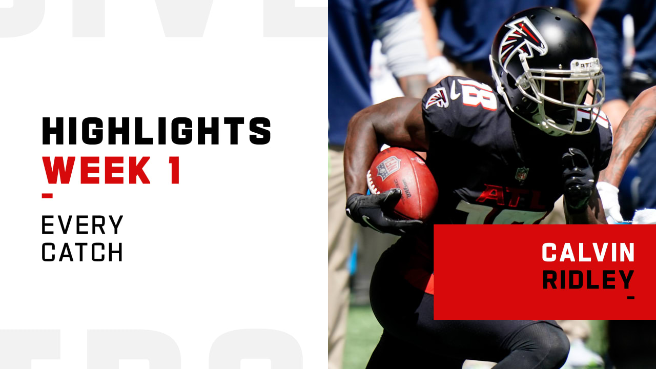 Every Catch From Atlanta Falcons Wide Receiver Calvin Ridley S 2 Td Game Week 1