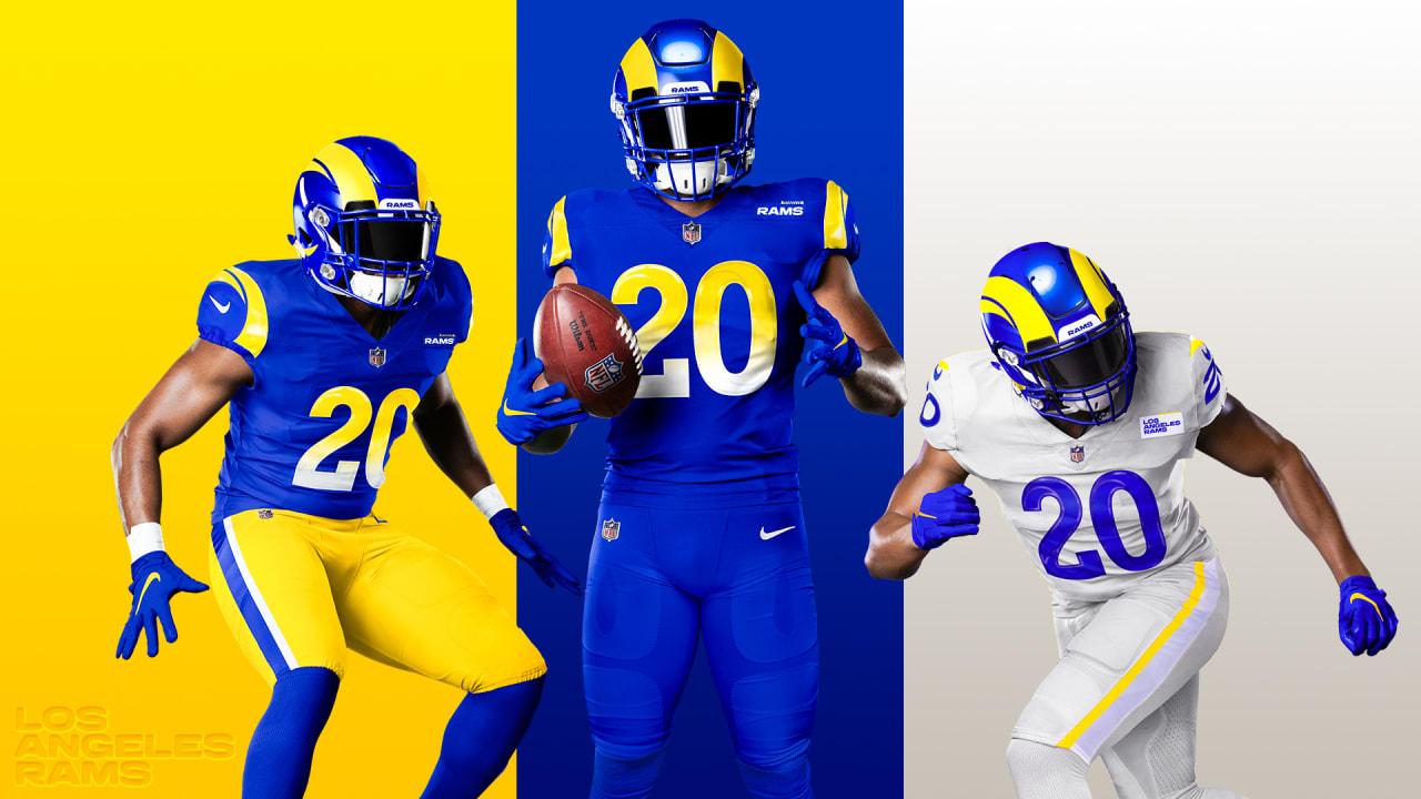 Rams introduce new uniforms ahead of start of SoFi Stadium era