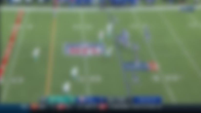 Nik Needham picks off Eli Manning to end first half