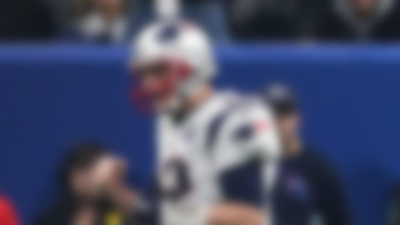 New England Patriots quarterback Tom Brady (12) celebrates  during the NFL Super Bowl LIII football game between the New England Patriots and Los Angeles Rams, Sunday, Feb. 3, 2019 in Atlanta. (Perry Knotts/NFL)
