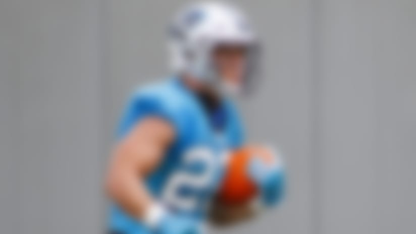 Carolina Panthers running back Christian McCaffrey carries the football during a drill at the NFL football team's training camp practice Sunday, Aug. 16, 2020 in Charlotte, N.C. (AP Photo/Nell Redmond)