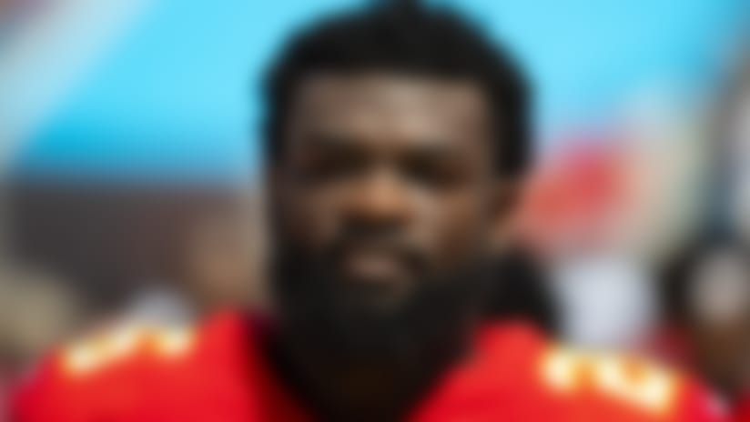 Kansas City Chiefs running back Damien Williams (26) looks on from the sideline during an NFL football game against the Jacksonville Jaguars, Sunday, Sept. 8, 2019 in Jacksonville, Fla. The Chiefs won 40-26. (Paul Abell via AP)