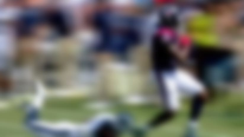 Sammie Coates connects with Brandon Weeden for a 32-yard gain