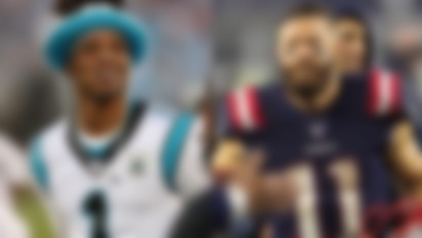 Julian Edelman welcomes Cam Newton with nod to QB's font