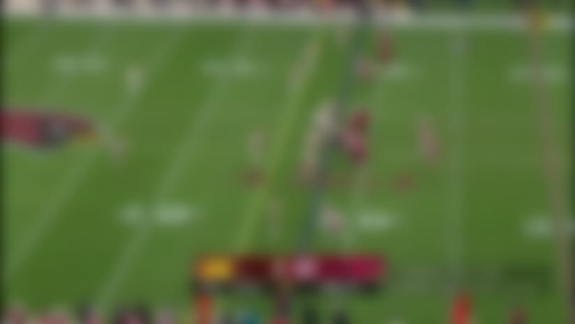 Hopkins shows amazing body control on back-shoulder catch and run