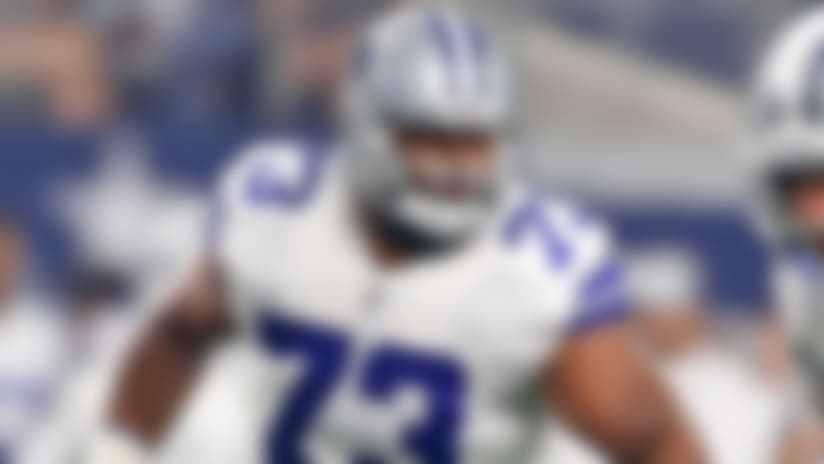 Jane Slater: Joe Looney will step in with Travis Frederick out
