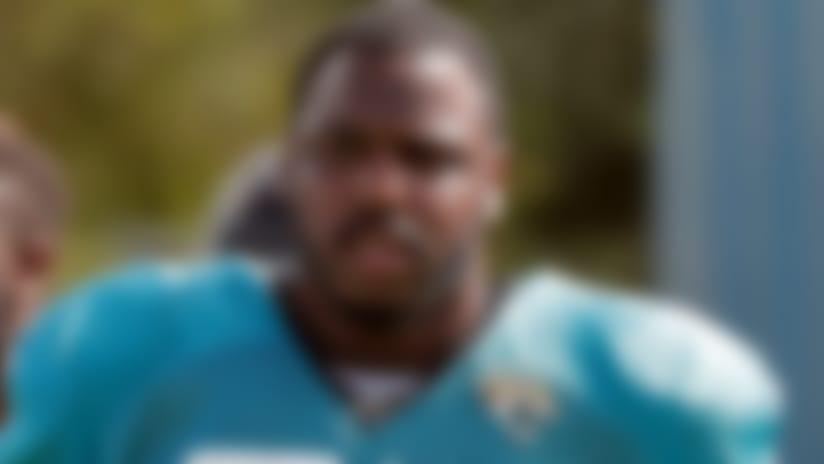 Jacksonville Jaguars defensive tackle Malik Jackson (97) during a practice at NFL football training camp, Wednesday, Aug. 1, 2018, in Jacksonville, Fla. (AP Photo/John Raoux)