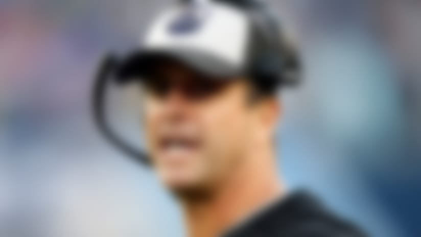 Baltimore Ravens head coach John Harbaugh watches from the sideline in the first half of an NFL football game against the Tennessee Titans Sunday, Oct. 14, 2018, in Nashville, Tenn. (AP Photo/Wade Payne)