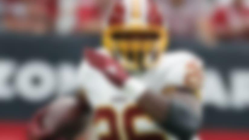 Washington Redskins running back Adrian Peterson (26) during an NFL football game against the Arizona Cardinals, Sunday, Sept. 9, 2018, in Glendale, Ariz. (AP Photo/Rick Scuteri)