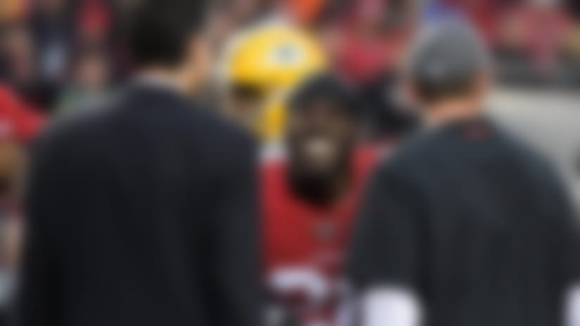 Tevin Coleman exits with shoulder injury in Niners win