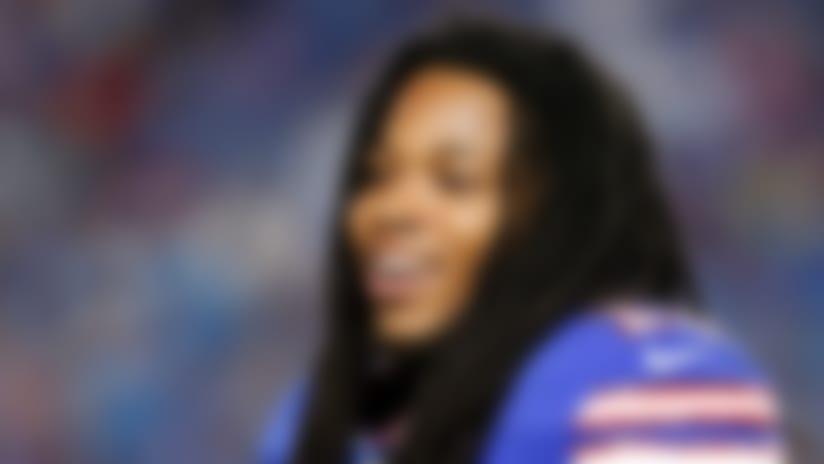 Aug 9, 2018; Orchard Park, NY, USA; Buffalo Bills wide receiver Kelvin Benjamin (13) against the Carolina Panthers at New Era Field. Mandatory Credit: Timothy T. Ludwig-USA TODAY Sports