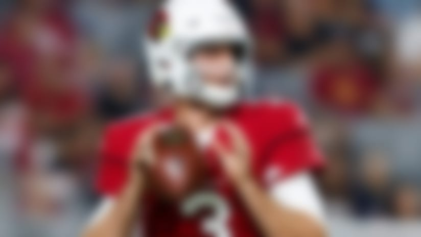 Arizona Cardinals quarterback Josh Rosen (3) looks to pass during an NFL preseason football game against the Los Angeles Chargers, Saturday, Aug. 11, 2018, in Glendale, Ariz. The Cardinals defeated the Chargers, 24-17.