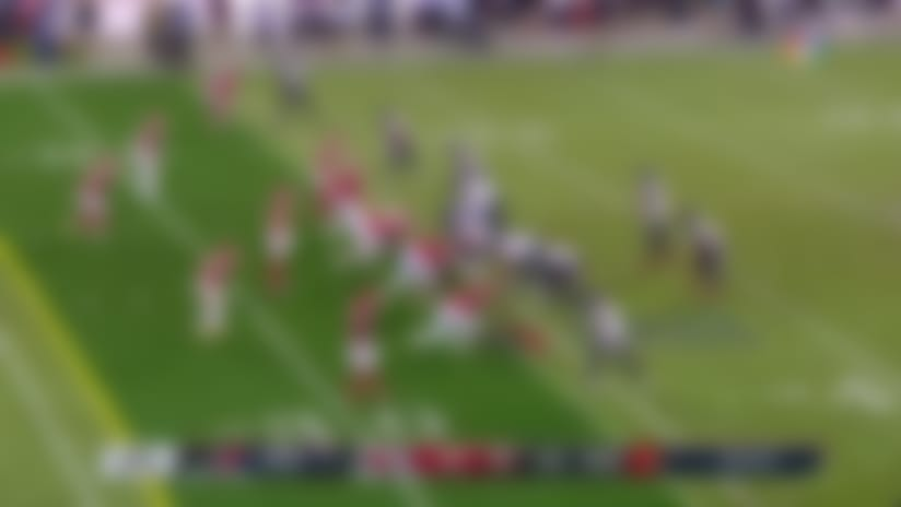 Watson buys time for fourth-down dime to Fuller to move the chains