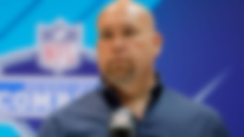 FILE - In this Feb. 28, 2018, file photo, Arizona Cardinals general manager Steve Keim speaks during a press conference at the NFL football scouting combine in Indianapolis. It's a new world for the Cardinals _ a new head coach, new offense, new coordinators, and an old problem.  The team still needs a long-term solution at quarterback. Keim addressed that issue short-term by signing Sam Bradford to start and Mike Glennon as the backup.  But the Cardinals would love to get a young good one in the draft and nurture him into the job.  (AP Photo/Darron Cummings, File)