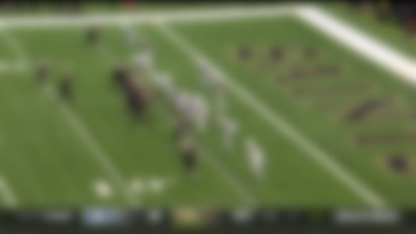 Offensive PI negates Drew Brees' potential historic TD pass