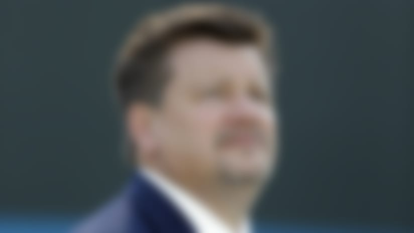 Arizona Cardinals executive Michael Bidwill watches his team warm up before an NFL football game against the Carolina Panthers in Charlotte, N.C., Sunday, Oct. 30, 2016. (AP Photo/Bob Leverone)