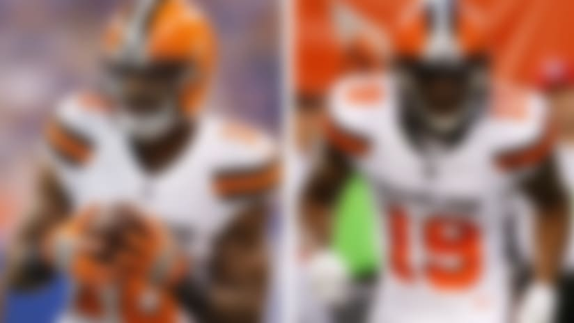 A split image of Kenny Britt and Corey Coleman.