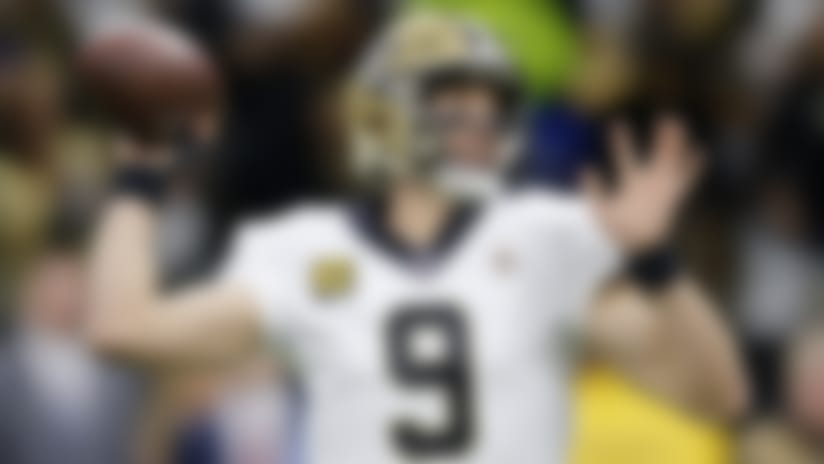 New Orleans Saints quarterback Drew Brees (9) passes in the first half of an NFL wild-card playoff football game against the Minnesota Vikings, Sunday, Jan. 5, 2020, in New Orleans. (AP Photo/Brett Duke)