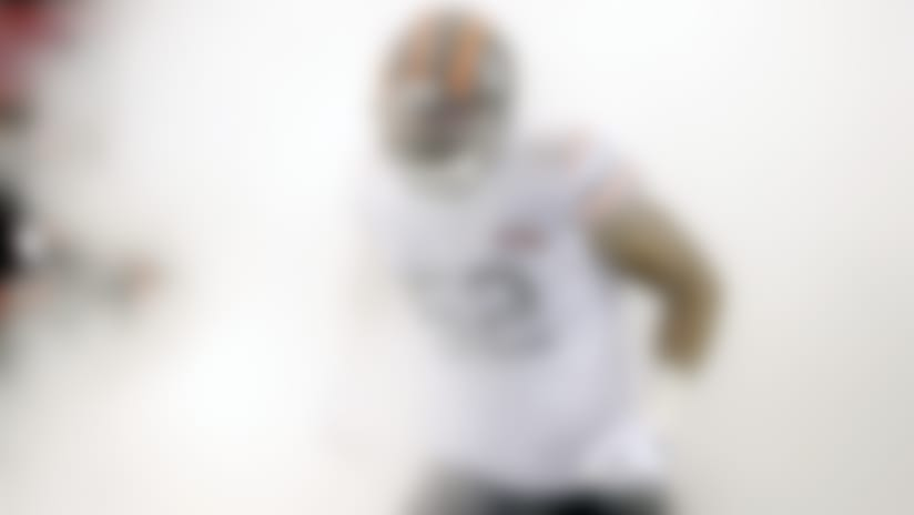 Chicago Bears' Khalil Mack (52) is introduced before an NFL football game against the Dallas Cowboys, Thursday, Dec. 5, 2019, in Chicago. (AP Photo/Charles Rex Arbogast)