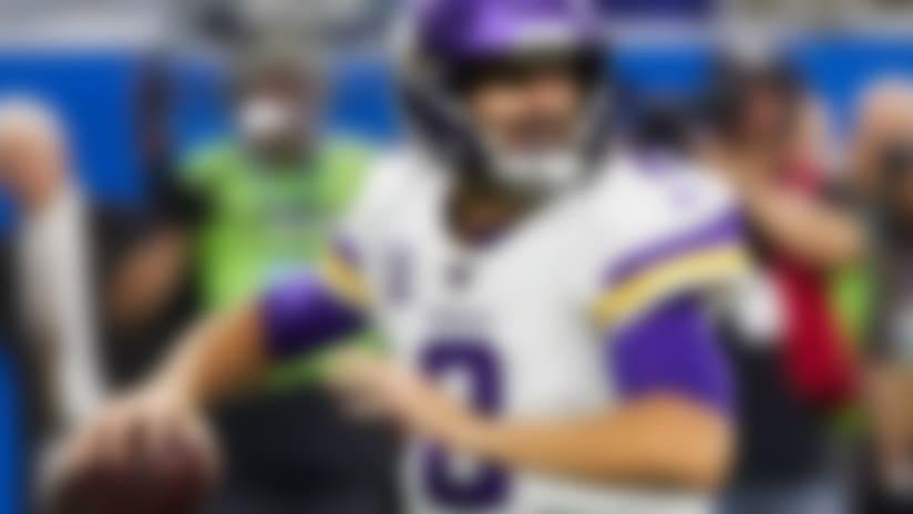 Minnesota Vikings quarterback Kirk Cousins (8) passes against the Detroit Lions during an NFL football game in Detroit, Sunday, Oct. 20, 2019. (AP Images/Rick Osentoski)