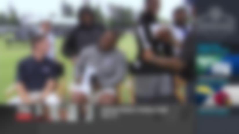 Marshawn Lynch crashes 'Inside Training Camp Live' set at Raiders' camp