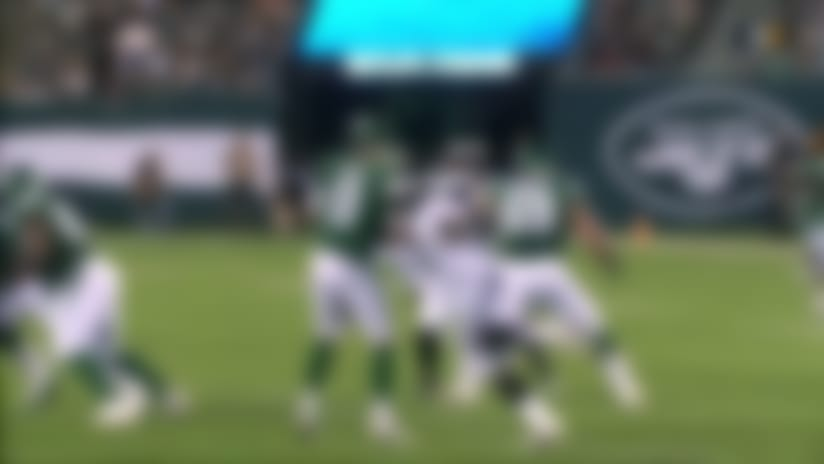 Jets somehow recover after Daeshon Hall flies off the edge for strip-sack
