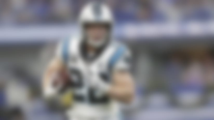 Carolina Panthers' Christian McCaffrey (22 runs during the second half of an NFL football game against the Indianapolis Colts, Sunday, Dec. 22, 2019, in Indianapolis. (AP Photo/Michael Conroy)