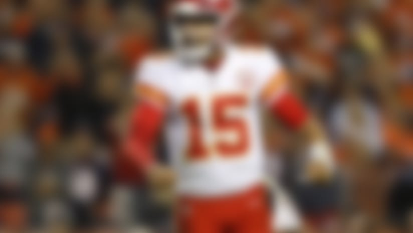 Kansas City Chiefs quarterback Patrick Mahomes (15)