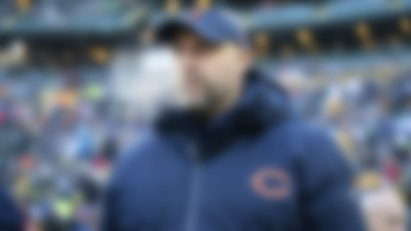 Chicago Bears head coach Matt Nagy prior to an NFL football game against the Green Bay Packers, Sunday, Dec. 15, 2019 in Green Bay. The Packers beat the Bears 21-13. (Todd Rosenberg via AP)