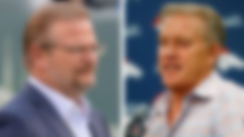 Jets GM Mike Maccagnan and Broncos GM John Elway