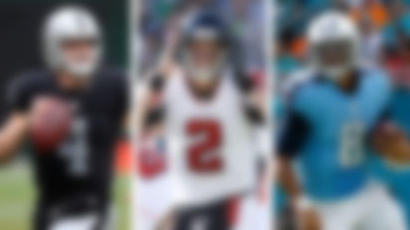 Marcus Mariota, Derek Carr among top five NFL QBs right now