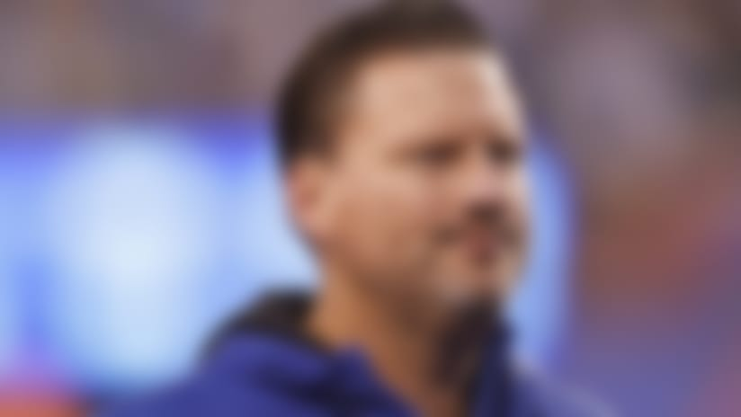 New York Giants head coach Ben McAdoo walks off the field following a week 9 NFL football against the Los Angeles Rams.