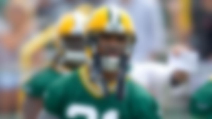 Charles Woodson lines up as Green Bay Packers' safety