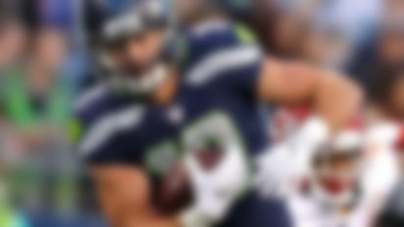 Seattle Seahawks wide receiver Tanner McEvoy (19) runs the football during an NFL preseason football game against the Kansas City Chiefs, Friday, Aug. 25, 2017, in Seattle. The Seahawks defeated the Chiefs, 26-13. (Ryan Kang via AP)