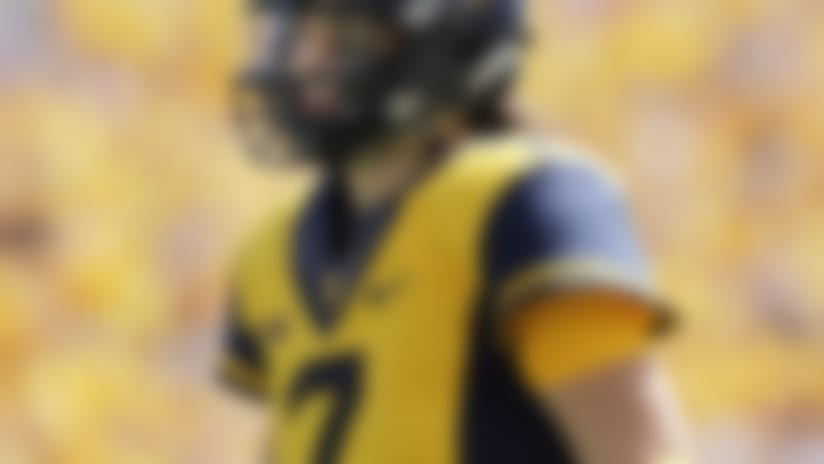 West Virginia quarterback Will Grier (7 )during the first half/second half of an NCAA college football game, Saturday, Sept. 9, 2017, in Morgantown, W.Va. (AP Photo/Raymond Thompson)