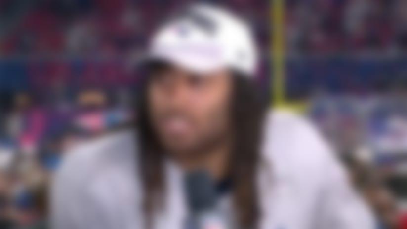 New England Patriots cornerback Stephon Gilmore discusses his crucial interception